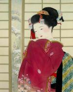 美人画/雪の朝-yukinoasa