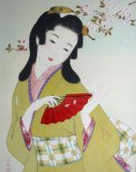 美人画/桜散る-sakuratiru