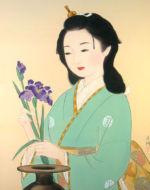 美人画/花菖蒲-hanashoubu