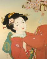 美人画/夜桜-yozakura