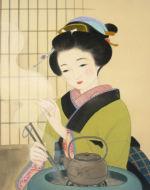 美人画/火鉢-hibati