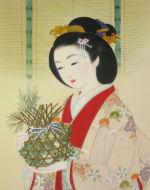 美人画/七草籠-nanakusakago