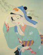 美人画/にわか雨-niwakaame