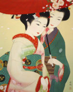 美人画/花の頃-tatsutagawa
