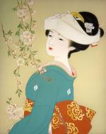 美人画/しだれ桜-shidarezakura