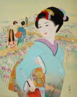 美人画/菖蒲園-syoubuenn