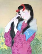 美人画/洗い髪-araigami