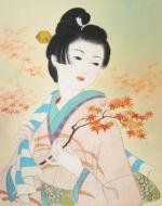 美人画/紅葉狩り-momizigari