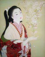 美人画/枝垂桜-shidarezakura