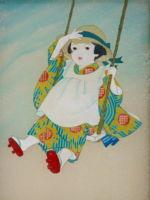 童女画/ひまわり-himawari