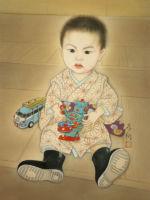 肖像画/ブリキの玩具-burikinoomotya