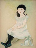 童女画/白い服の少女-shiroifukunoshouzyo