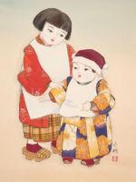 童女画/姉弟-aneotouto