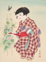 童女画/あさがお-asagao