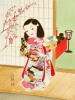 童女画/桃の節句-momonosekku