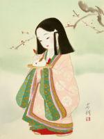 童女画/雪うさぎ-yukiusagi